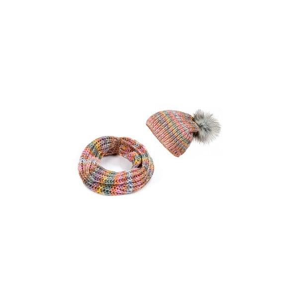 Čepice se šálou Lavaii Rainbow
