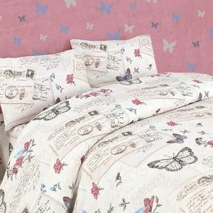 Lenjerie de pat cu cearșaf Retrofly, 200 x 220 cm
