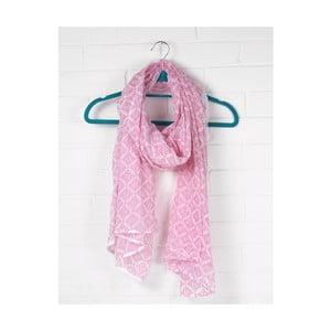 Šátek Print Tile Hot Pink