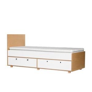 Bílá jednolůžková postel Durbas Style