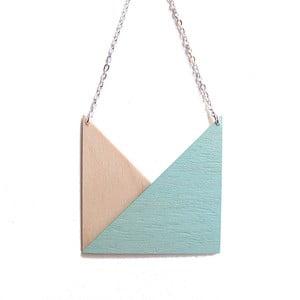 Přívěšek Snug.Geometric Triangle, mátový