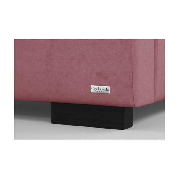 Růžová dvoulůžková postel s úložným prostorem Guy Laroche Home Fantasy, 140x200cm