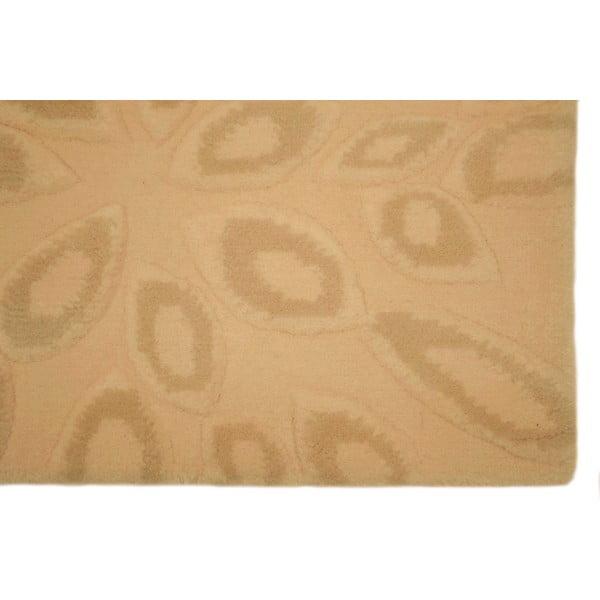 Vlněný koberec Seto Beige, 140x200 cm