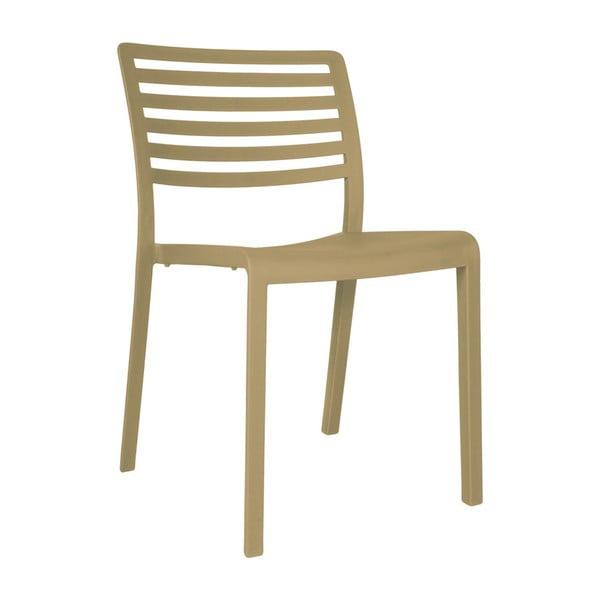 Sada 2 pískově hnědých zahradních židlí Resol Lama