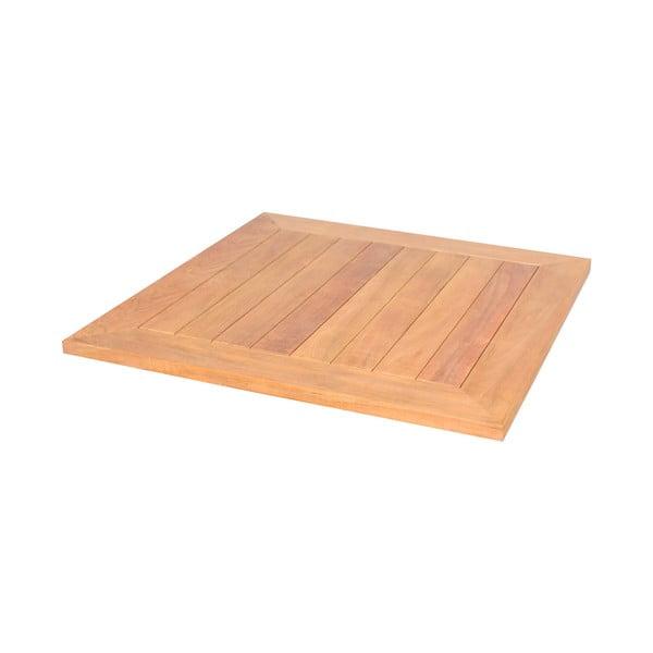 Blat din lemn de tec pentru masă de grădină Ezeis Typon, 67 x 67 cm