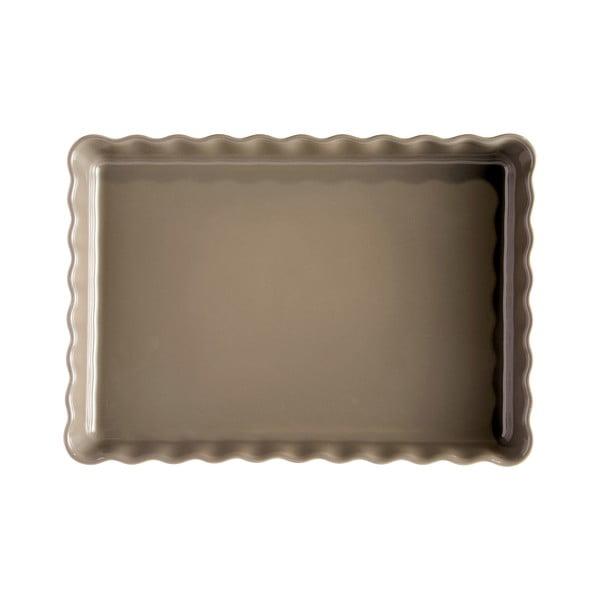 Formă dreptunghiulară pentru plăcintă Emile Henry, 24 x 34 cm, gri rândunică