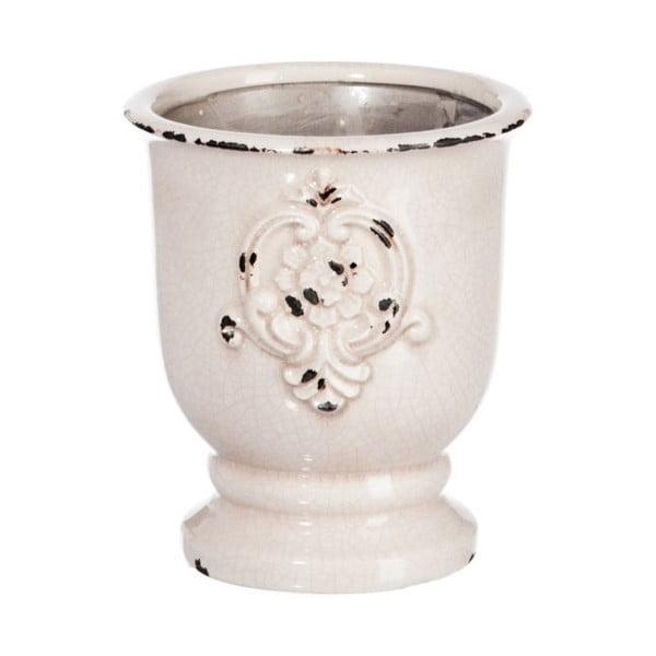 Váza Mediterran White, 16x16x18 cm