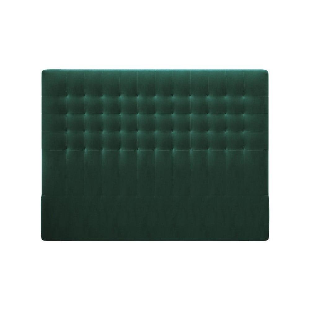 Produktové foto Lahvově zelené čelo postele se sametovým potahem Windsor & Co Sofas Apollo, 180x120cm