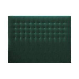 Lahvově zelené čelo postele se sametovým potahem Windsor & Co Sofas Apollo, 200x120cm