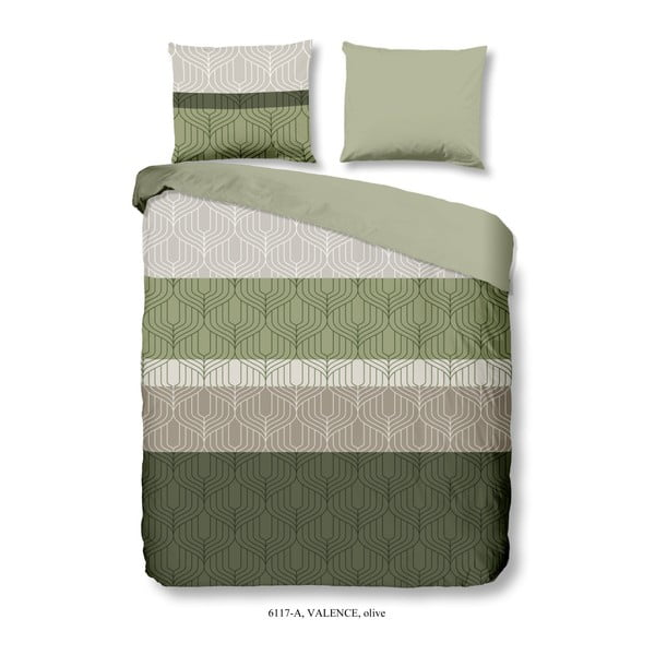 Zelené povlečení na dvoulůžko z bavlny Good Morning Valence, 200 x 240 cm
