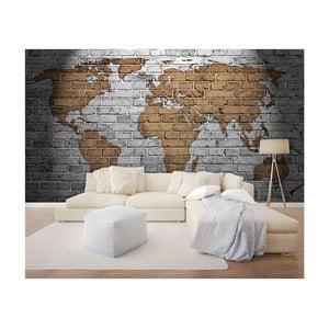 Velkoformátová nástěnná tapeta Vavex Bricks Map, 368 x 280 cm