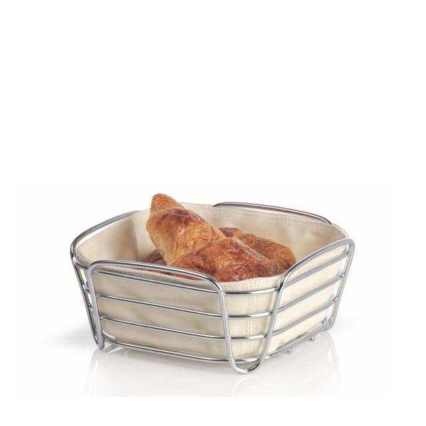 Krémový košík na pečivo s bílou bavlněnou vložkou Blomus Delara, šířka20cm