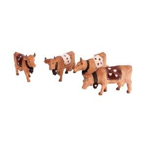 Sada 4 figurek AnticLine Cow