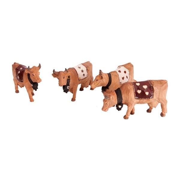 Sada 4 figurek Cow