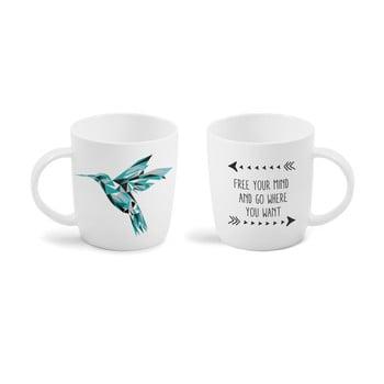 Cană cu mesaj imprimat față - verso Vialli Design Hummingbird, 370 ml de la Vialli Design