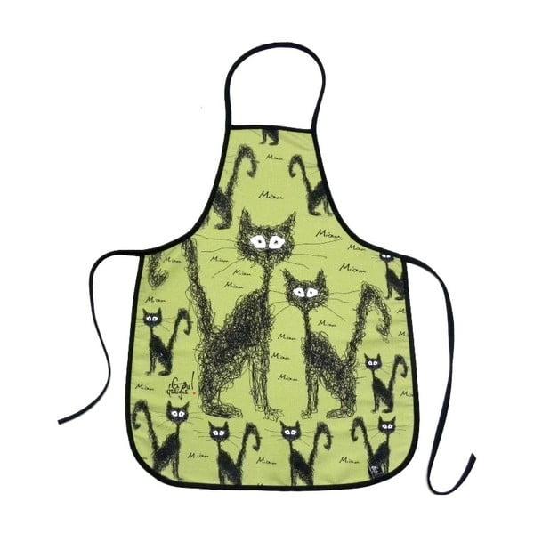 Zástěra Kočky na zelené