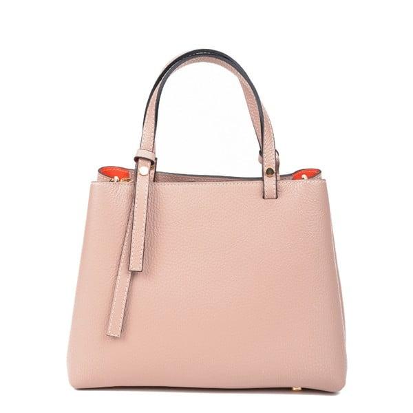 Pudrově růžová kožená kabelka RenataCorsi Luca