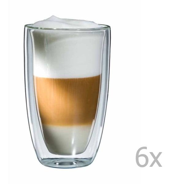 Sada 6 skleněných hrnků na latte macchiato bloomix