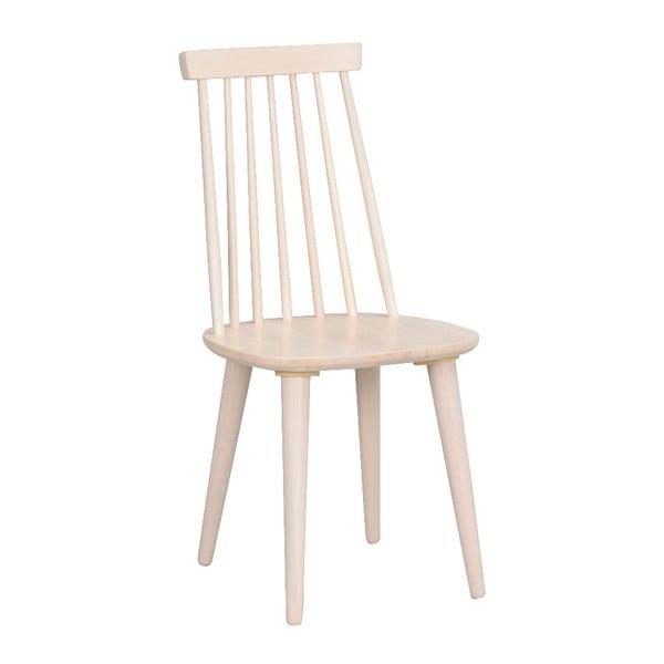 Béžová jídelní židle ze dřeva kaučukovníku Rowico Lotta
