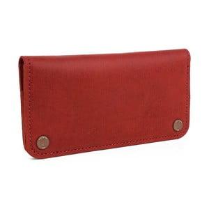 Červená kožená peněženka Woox Triviala Purpurea