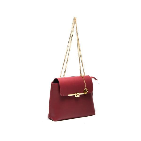 Kožená kabelka Layla 395 Rosso