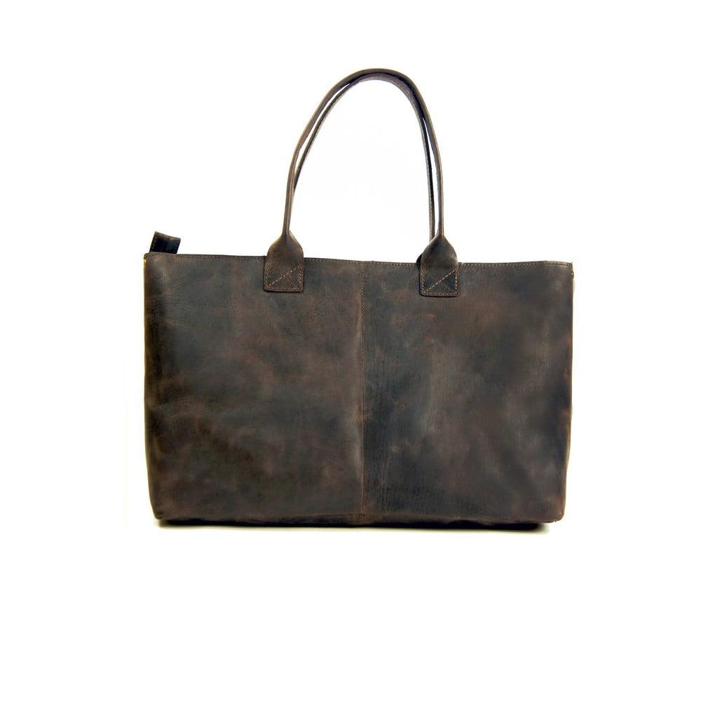 Tmavě hnědá kožená vintage kabelka O My Bag Madam Rose ... 87592398edf