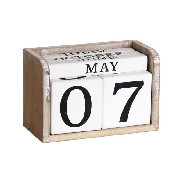Dřevěný retro kalendář Maiko