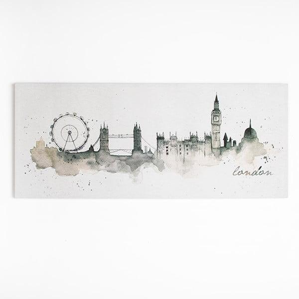Obraz Graham&Brown London Watercolour, 120×50cm