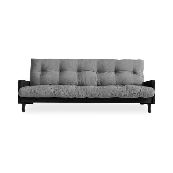 Indie Black/Granite Grey szürke kinyitható kanapé - Karup Design