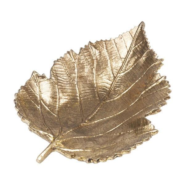 Bol decorativ Kare Design Leaf, auriu