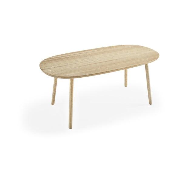 Masă dining din lemn de frasin EMKO Naïve, 180 x 90 cm, natural