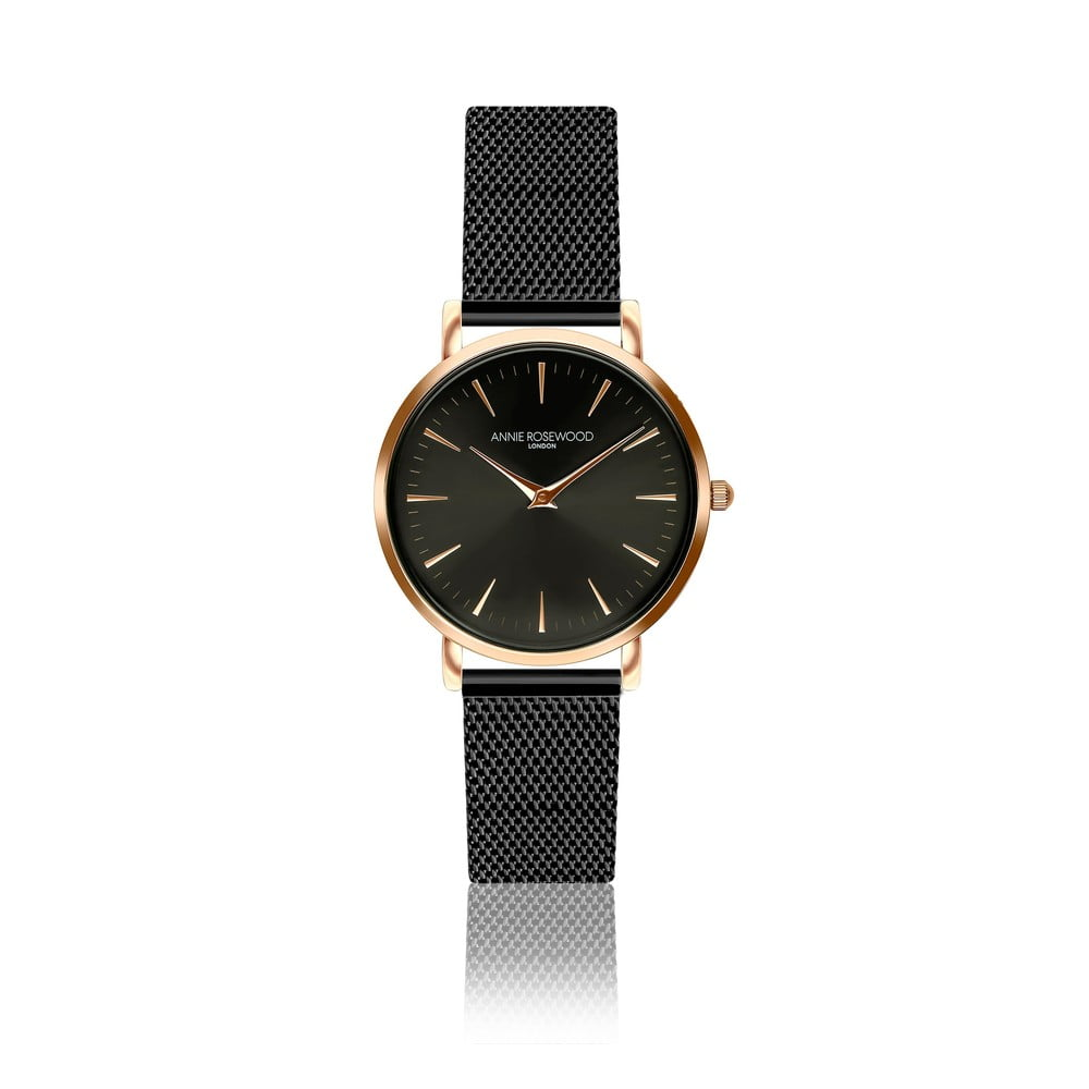 Dámské hodinky snerezovým páskem Annie Rosewood Agi Dark