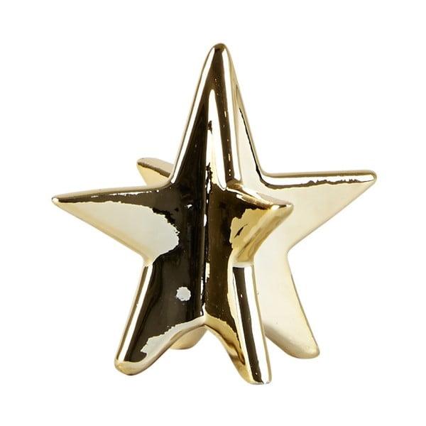 Dekorativní keramická hvězda Villa Collection  Ceramic Gold, 8 cm