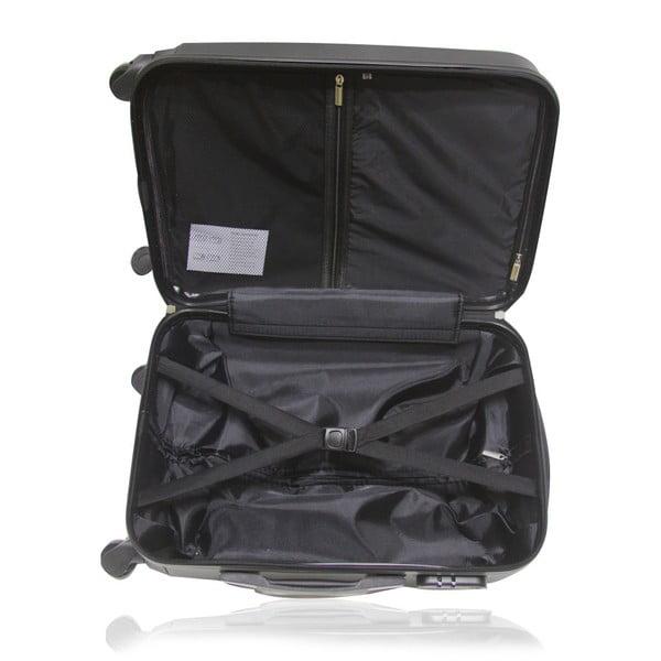 Sada 3 černých cestovních kufrů na kolečkách Hero Roman