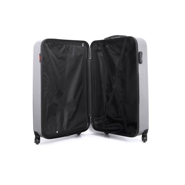 Cestovní kufr ve stříbrné barvě na kolečkách Hero Ioulia, 60 l