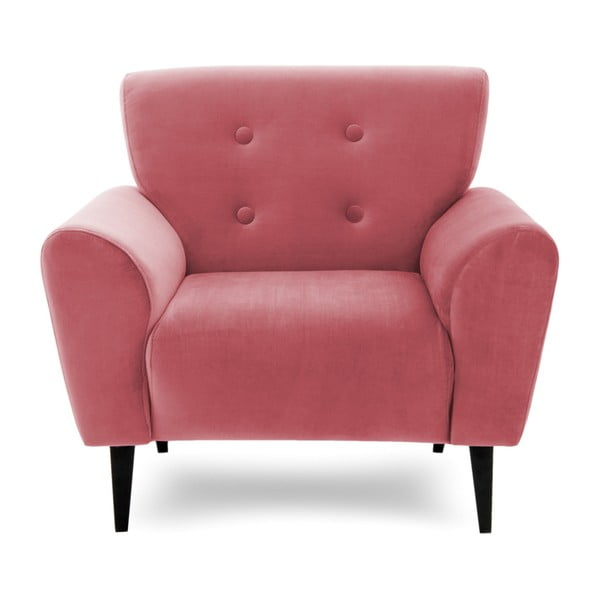 Różowy fotel Vivonita Kiara