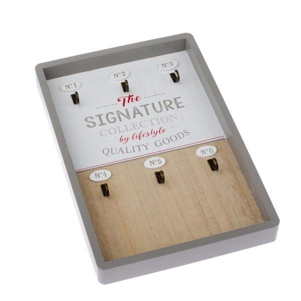 Nástěnný dřevěný věšák na klíče Dakls Signature