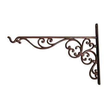 Suport din fontă pentru suspendat ghiveci Esschert Design Voluta, înălțime 24,7 cm imagine