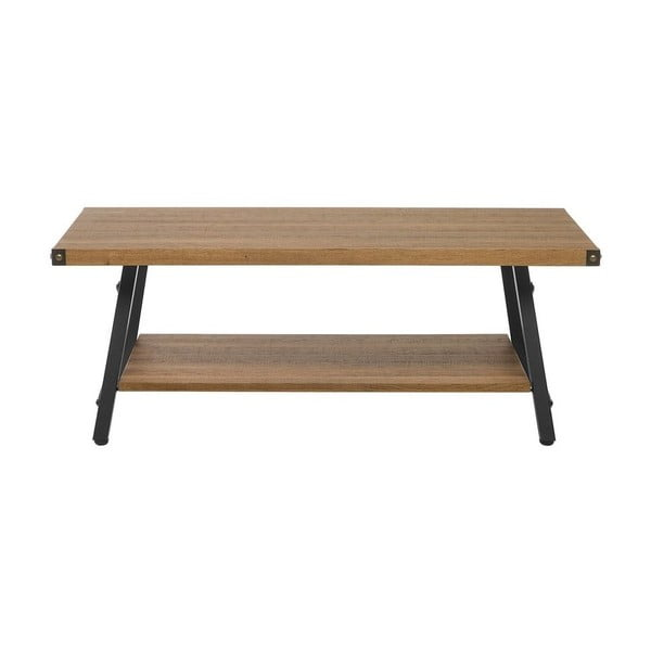 Konferenční stolek v dekoru tmavého dřeva Monobeli Ilia, 60x110cm