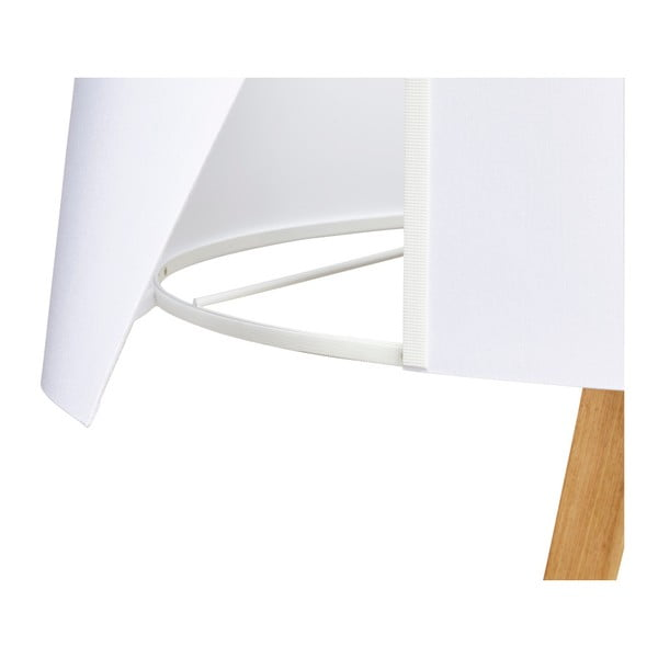 Stojací lampa s bílým stínítkem Kokoon Trivet