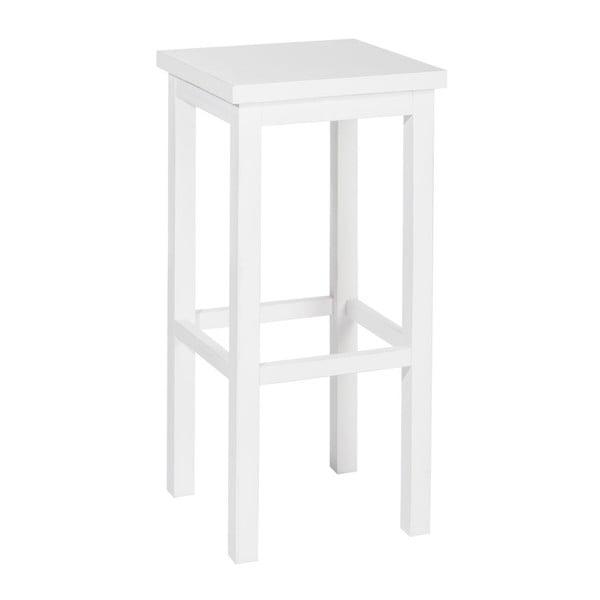 Stolička Bar White, 36x36x79 cm