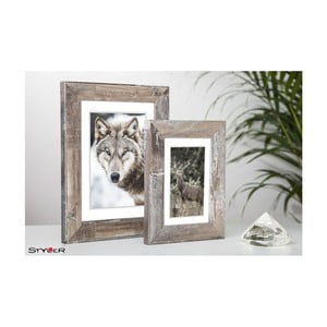 Hnědý rámeček na fotografii Styler Bergen Shabby, 40x50cm