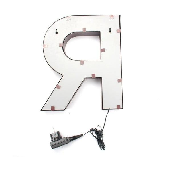 Světelná LED dekorace Letter R