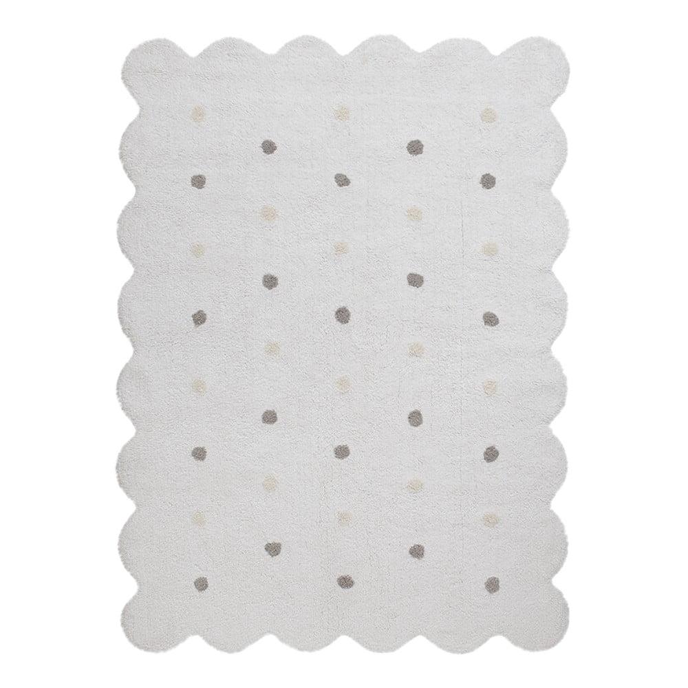 Bílý bavlněný ručně vyráběný koberec Lorena Canals Biscuit, 120 x 160 cm