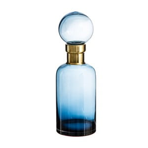 Modrá dekorativní lahev Denzzo Saulo, výška34cm