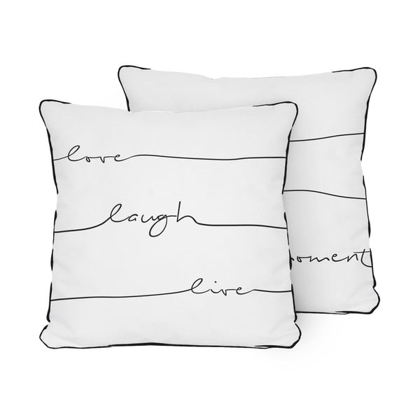 Polštář Pillow Live Laugh Love, 45x45 cm