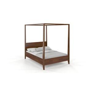 Dvoulůžková postel z masivního borovicového dřeva SKANDICA Canopy Dark, 160 x 200 cm