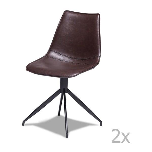 Isabel 2 darabos sötétbarna székkészlet - Furnhouse