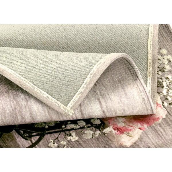 Vysoce odolný kuchyňský koberec Webtappeti Bouquet,60x115cm