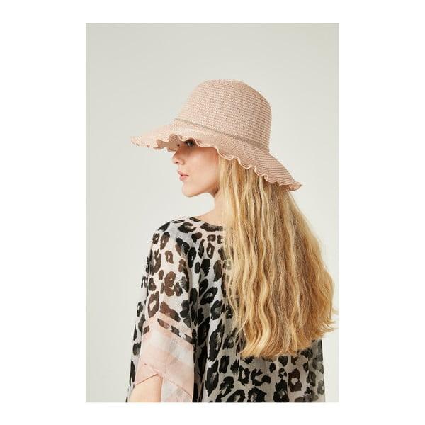 Ružový dámsky slamený klobouk Alexander McKensey Lady